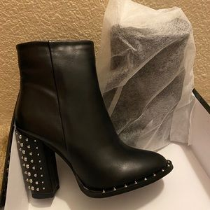 pretty little thing studded ankle boots!